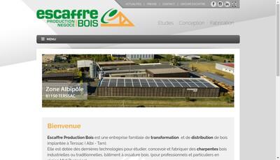 Site internet de Escaffre Production