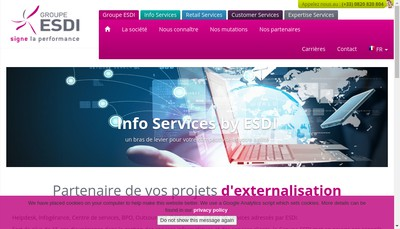 Site internet de Esdi European Help Desk