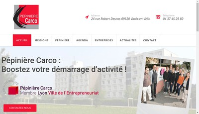 Site internet de Espace Carco - Pepiniere d'Entreprises