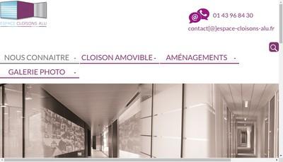 Site internet de Espace Cloisons Alu