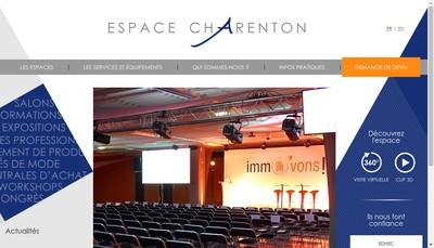 Site internet de Espace Charenton