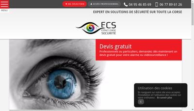 Site internet de Ecs Espace Corse Securite