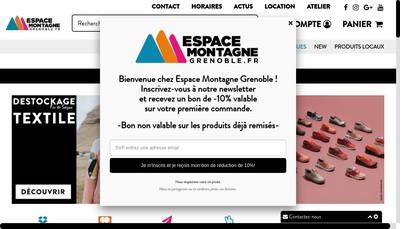 Site internet de Espace Montagne