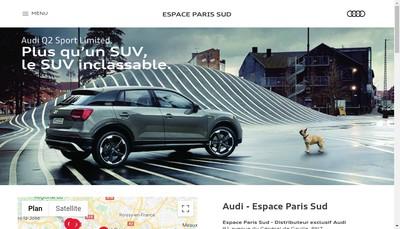 Site internet de Espace Paris Sud
