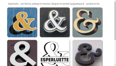 Site internet de Esperluette
