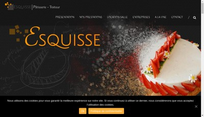 Site internet de Patisserie Esquisse