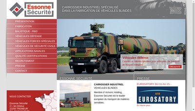 Site internet de Essonne Securite