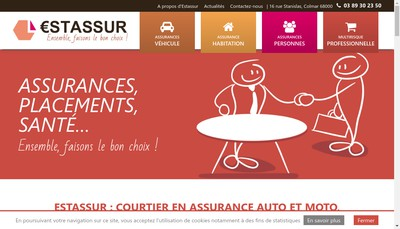 Site internet de Estassur Courtage SARL