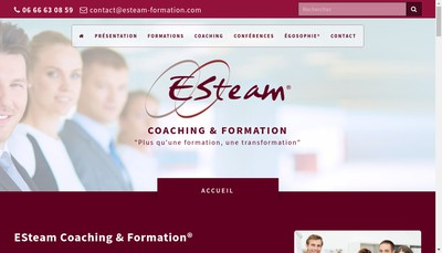Site internet de Esteam Coaching et Formation