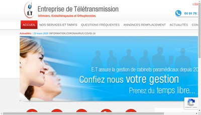 Site internet de Entreprise de Teletransmission