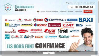Site internet de Sanchez Depannage