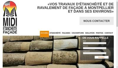 Site internet de Midi Etancheite Facade