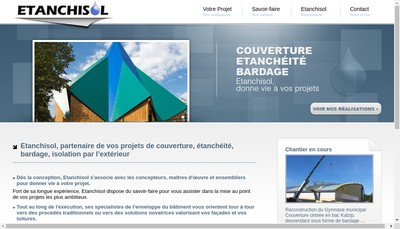 Site internet de Etanchisol SA