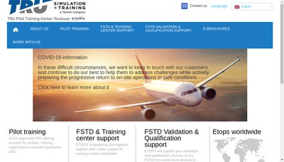 Site internet de Tru Pilot Training Center-Toulouse