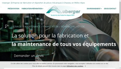 Site internet de Auberger