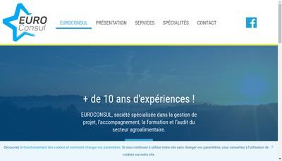 Site internet de SARL Euroconsul