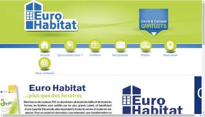 Site internet de Euro Habitat