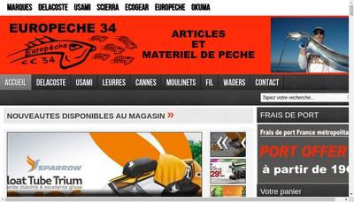 Site internet de Peche 34
