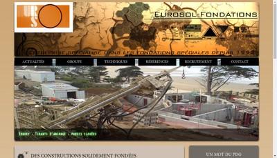 Site internet de Eurosol Fondations