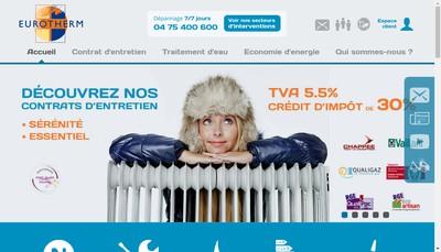 Site internet de Eurotherm