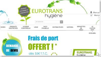 Site internet de Eurotrans-Hygiene