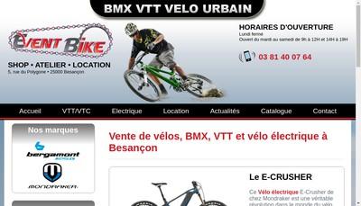 Site internet de Event Bike