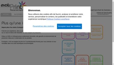 Site internet de Evoluprint