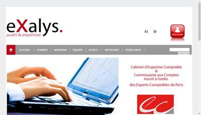 Site internet de Exalys Audit & Expertise