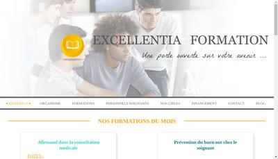 Site internet de Excellentia Formation