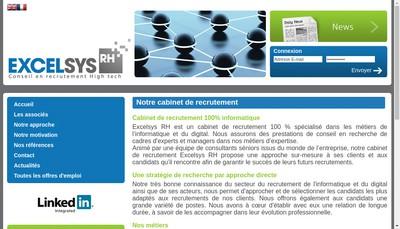 Site internet de Excelsys Rh