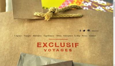 Site internet de Exclusif Voyages