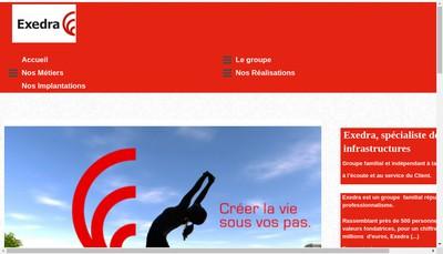 Site internet de Exedra Midi-Pyrenees