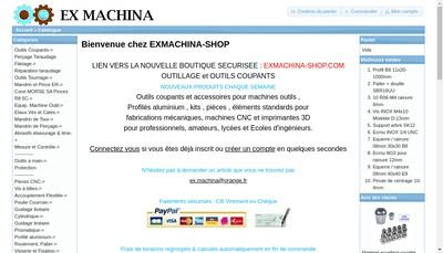 Site internet de Ex-Machina