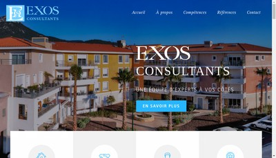 Site internet de Exos Consultants