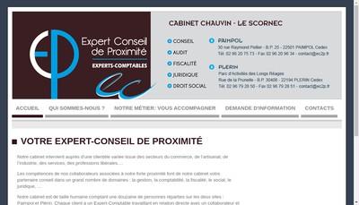 Site internet de E & C Expertise Comptable
