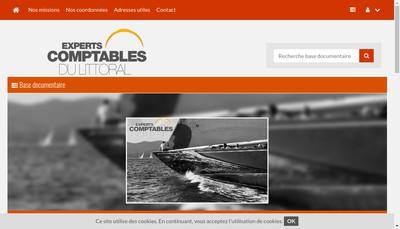 Site internet de Experts Comptables du Littoral