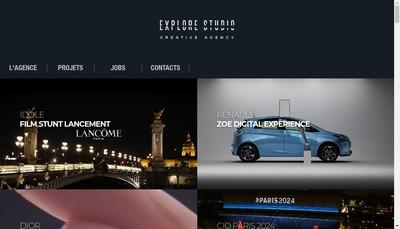 Site internet de Explore Studio