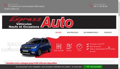 Site internet de Express'Auto