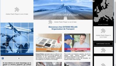Site internet de Groupextand Ext Affre Stoc Colis Messag