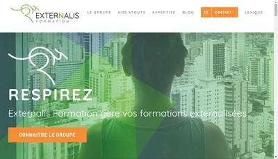 Site internet de Externalis Formation