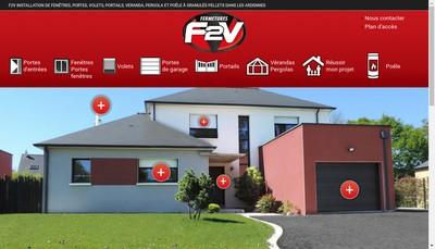 Site internet de Fermetures F2V