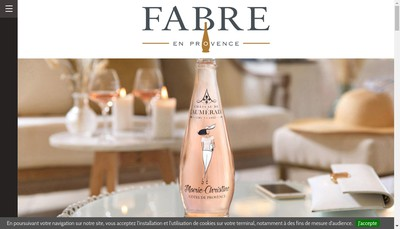 Site internet de Maison Fabre