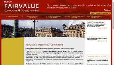 Site internet de Fairvalue Corporate Communication
