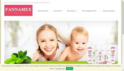 Site internet de Laboratoires Fannamex