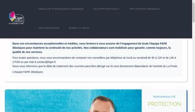 Site internet de Fape Obseques