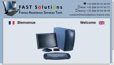 Site internet de Fast Solutions