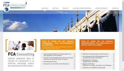 Site internet de Fca Consulting