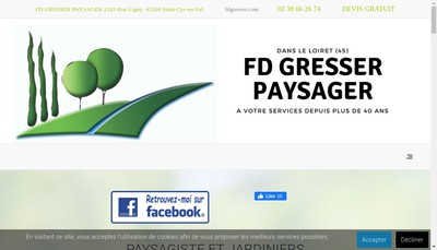 Site internet de Fd Gresser Paysager