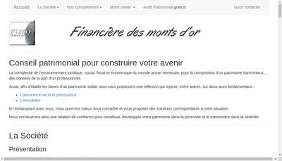 Site internet de Financiere des Monts d'Or