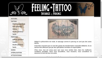 Site internet de Feeling Tattoo